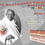 Sustainche's Farm Project Poster Gandhi and Sustainche