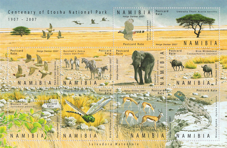 Namibia 2007 Centenary of Etosha Nationalpark_stamps miniaturesheet