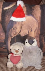 Sustainche, Lisa and Elephantche Christmas 2012